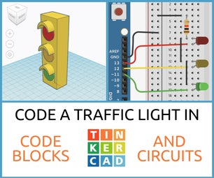 Code a Traffic Light in Tinkercad Codeblocks & Circuits