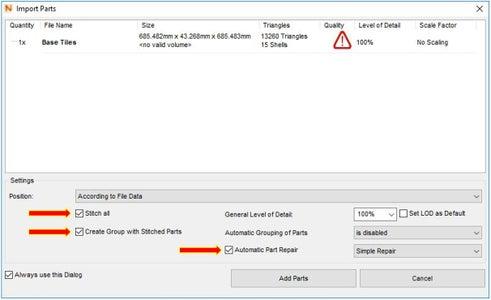 Import Files Into Netfabb