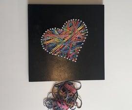 Rubber Band Heart Art