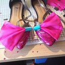 Big bow shoe shoes