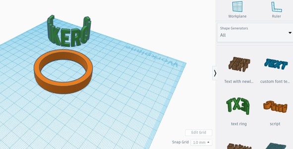Designing Your Ring in TinkerCAD Pt2
