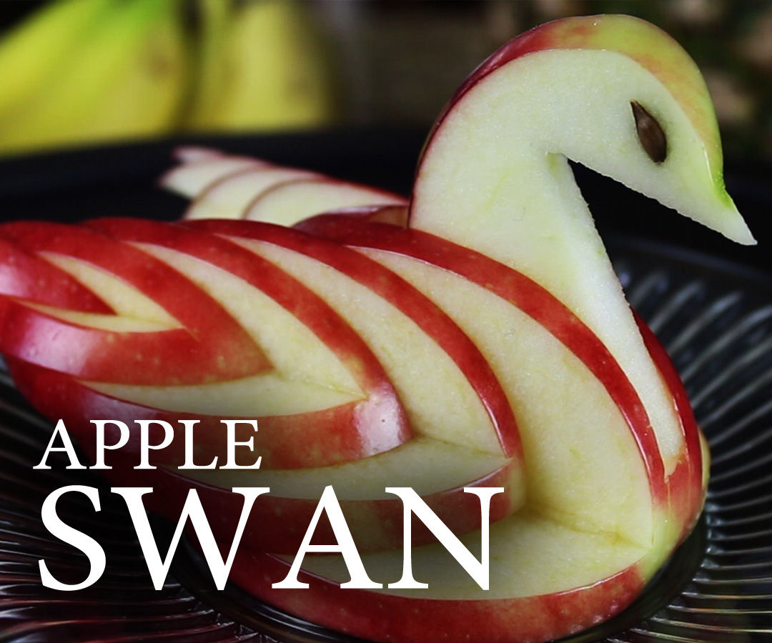 Make an Edible Apple Swan!