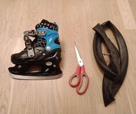 从旧自行车内胎溜冰警卫