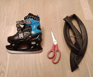Skate Guards From Old Bicycle Inner Tube
