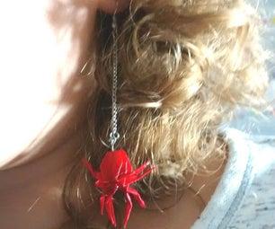 Origami Spider Earrings