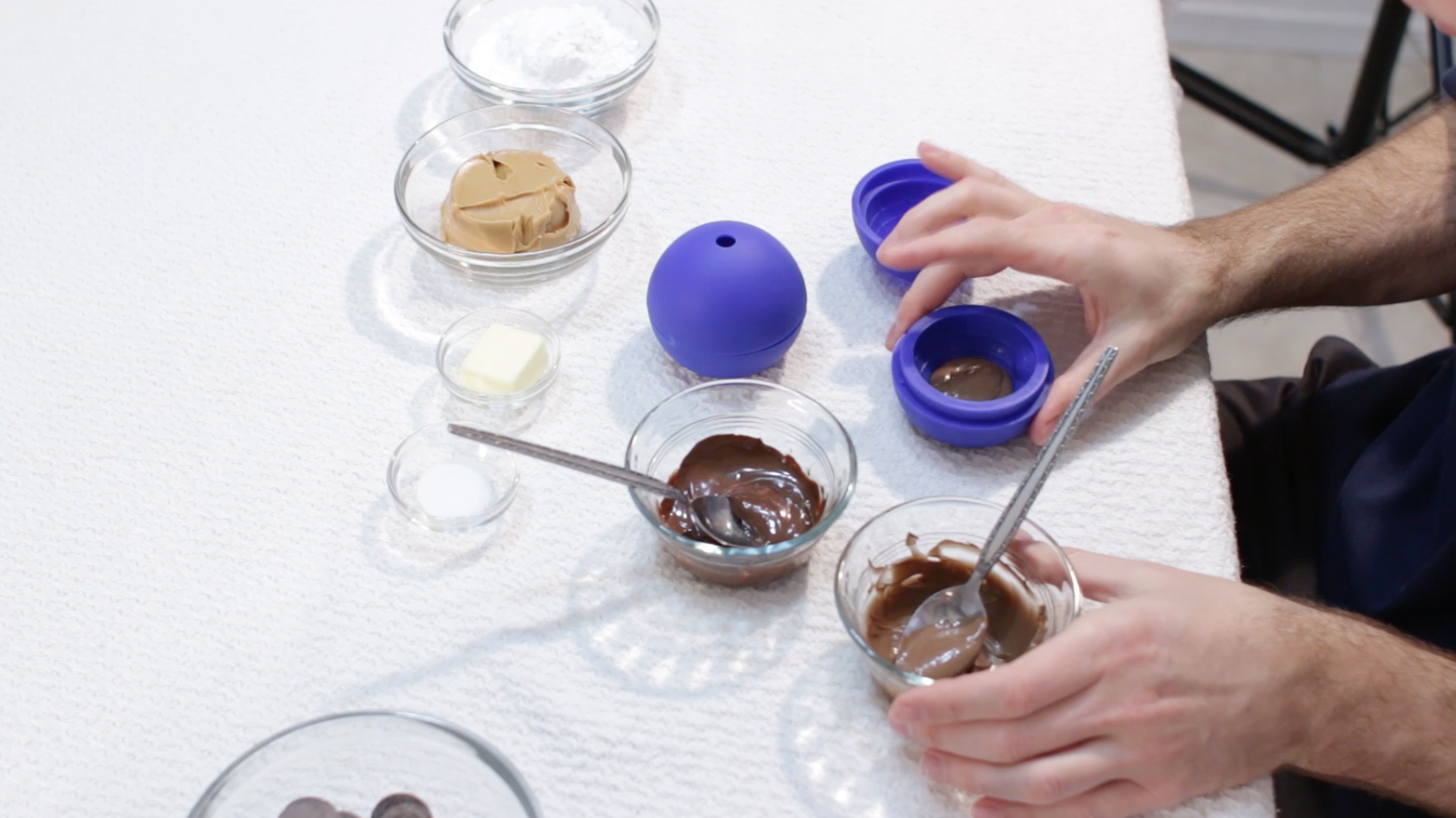 Place Chocolate on Bottom Mold