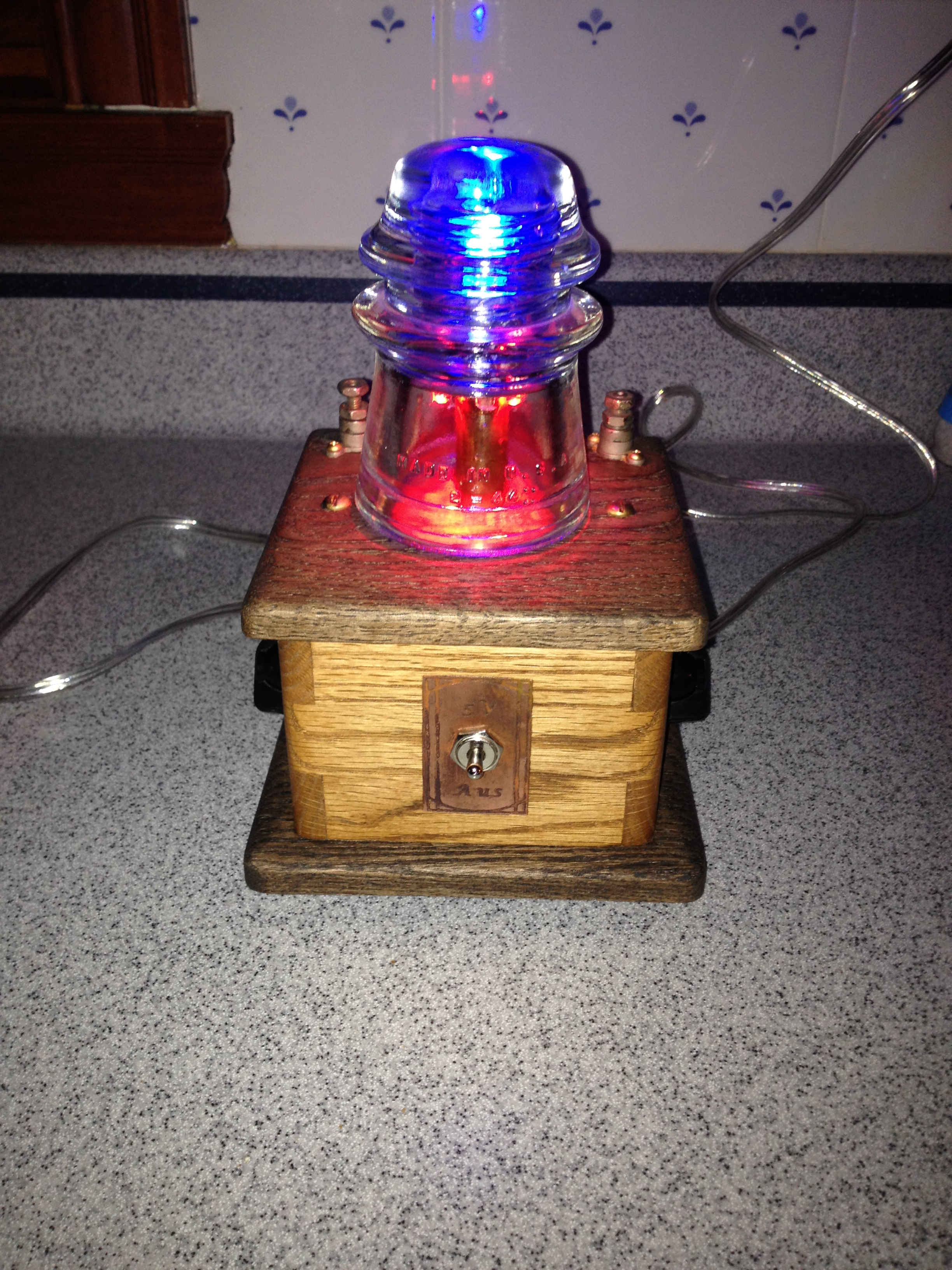 Steampunk LED Color mixer lamp