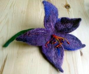Felted Wool Flower