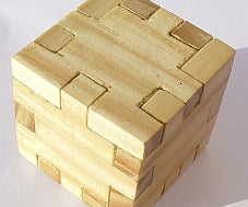 Wooden Puzzle Cube 3D   (3D Puzzle Cube Constructed With Sketchup 2013 Suite)