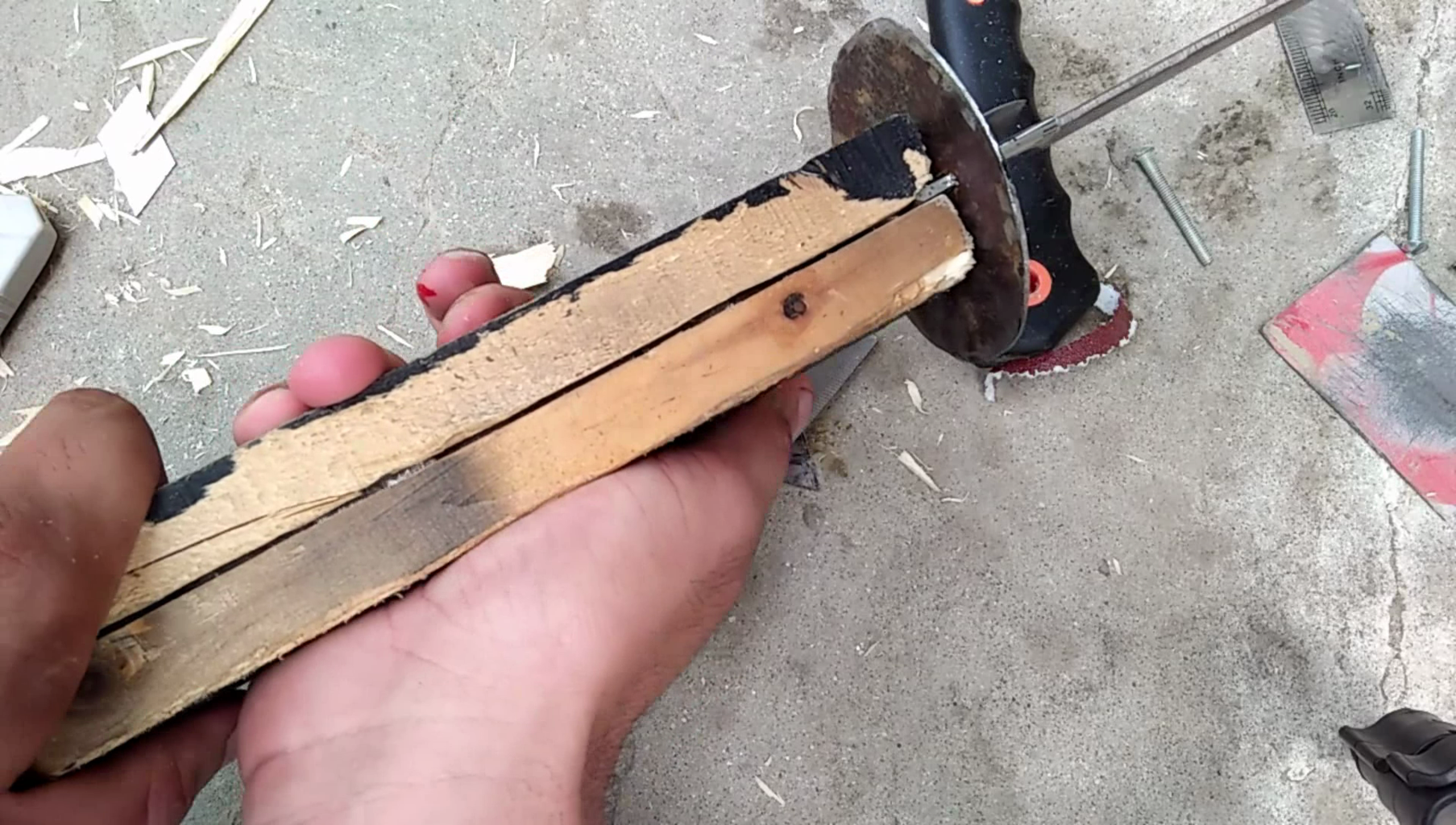 Making the Blade.