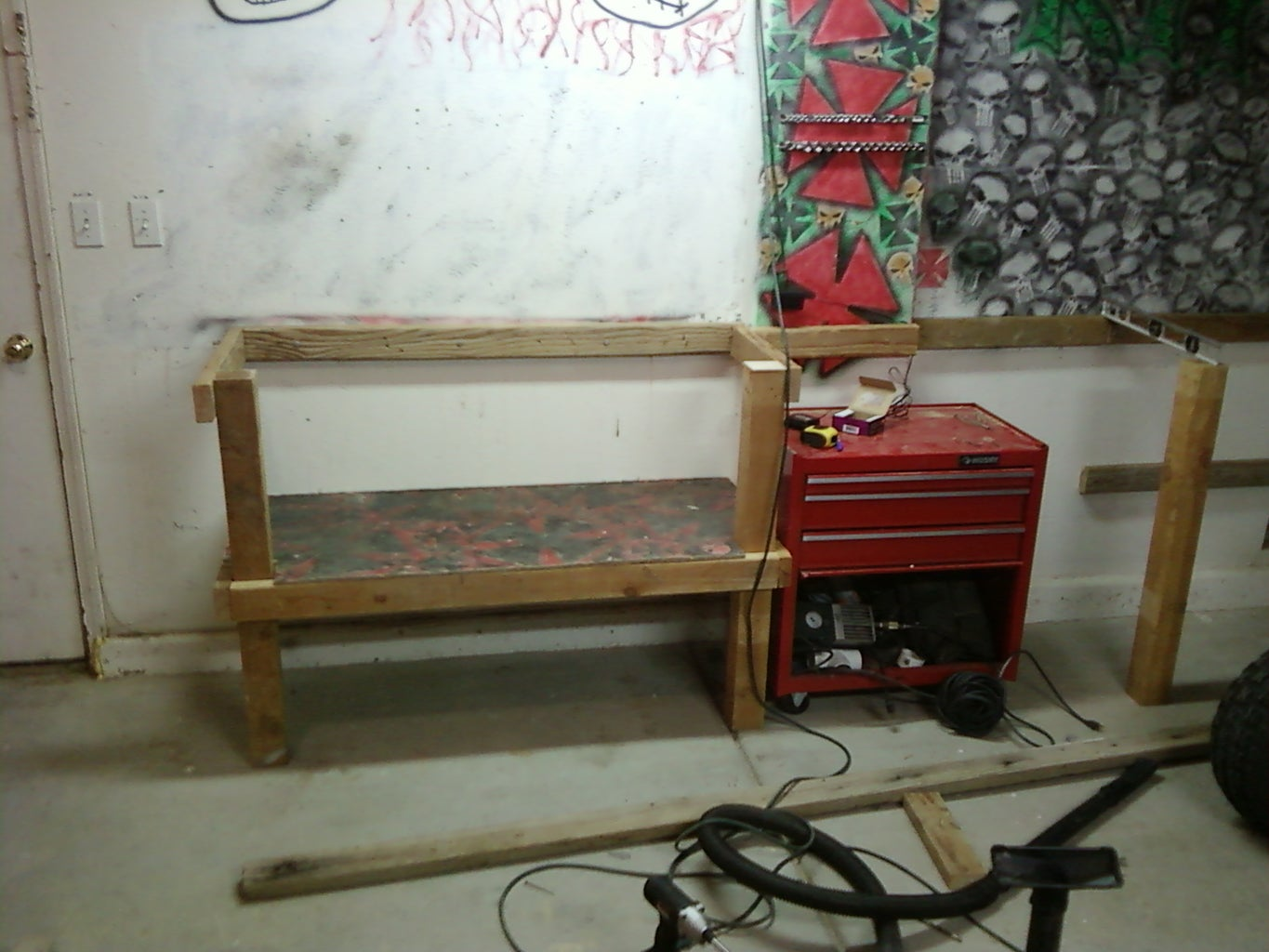 Legs and Shelf Support