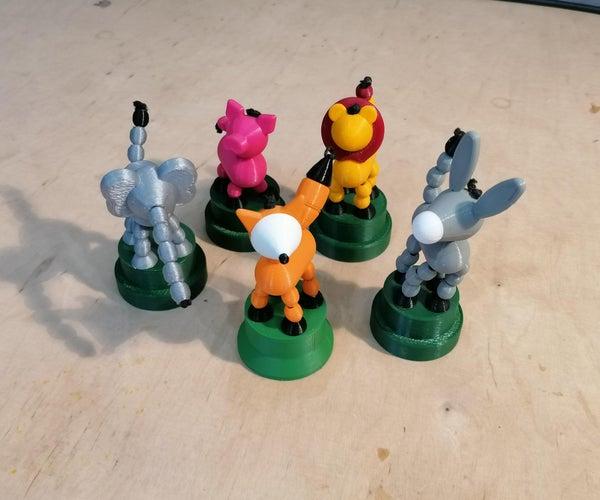 Collapsing Animal Toys