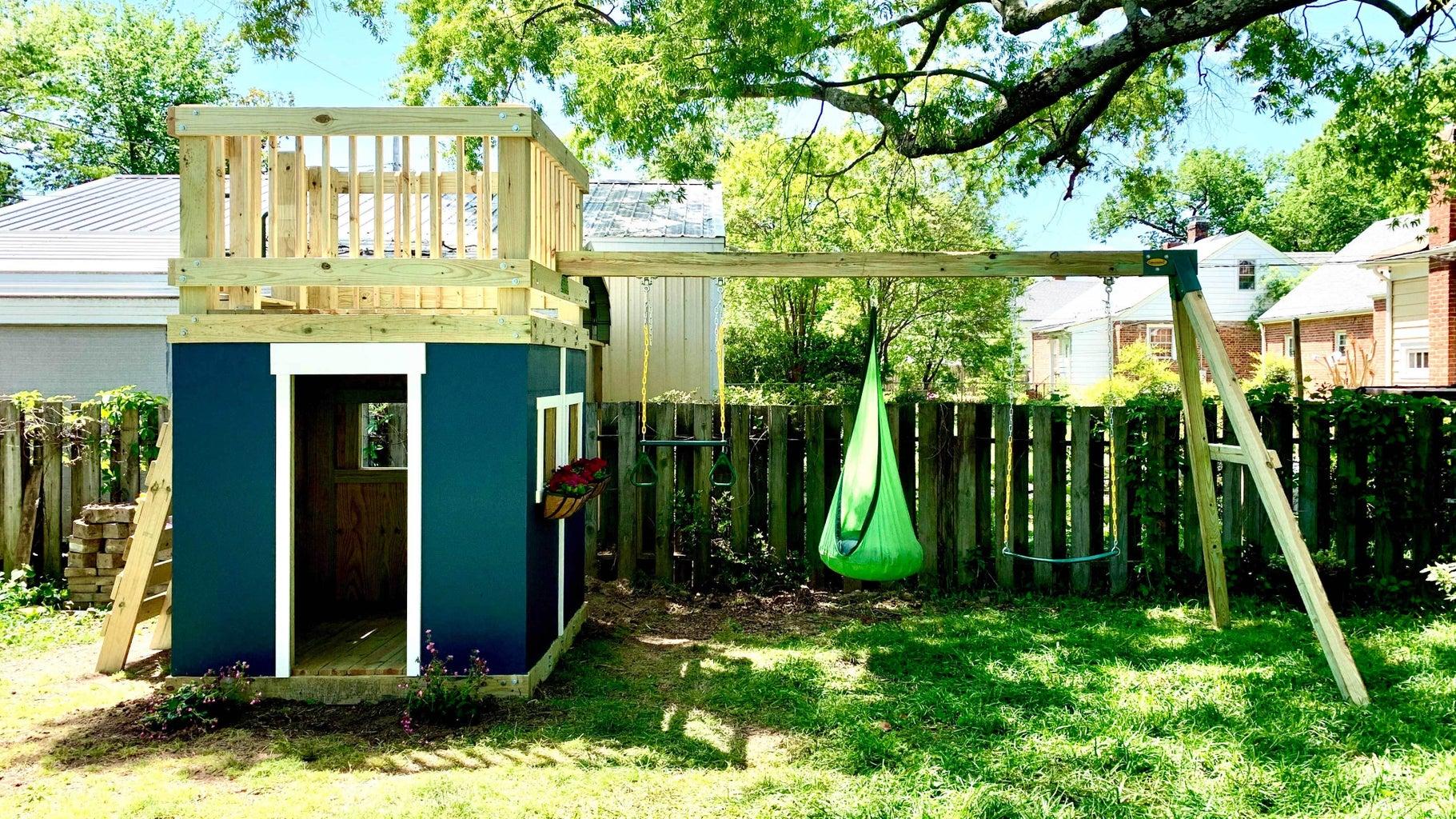DIY Playhouse & Swing Set