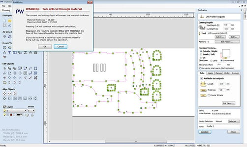 Making Tool Path on Partsworks 2d for Cnc Router