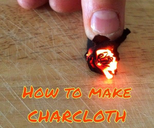 How to Make Char-Cloth