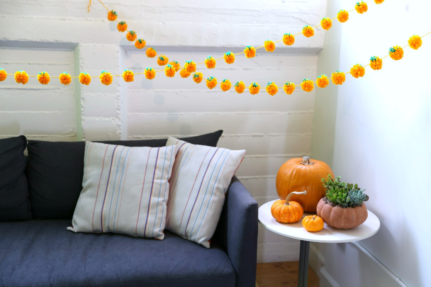 Pumpkin Pom Pom Garland 12 Steps With Pictures Instructables