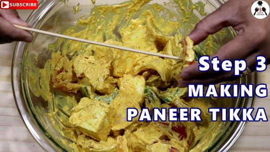 Making Keto Paneer Tikka