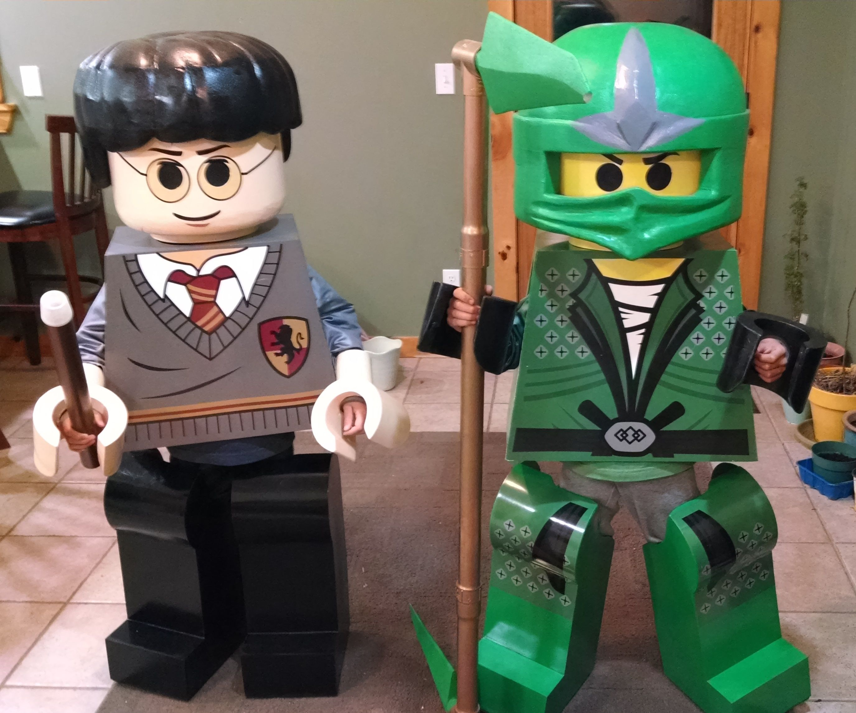 Lego Harry Potter & Green Ninjago Youth Costumes