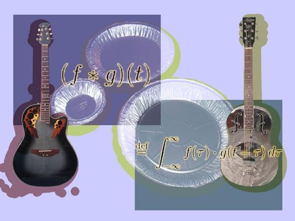 Transform an Acoustic Guitar Into a Dobro Using Aluminum Pie Pans and Convolution