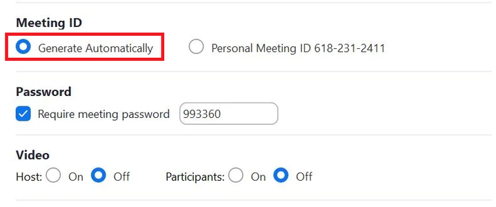Use a Random ID