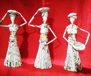 Paper models of women