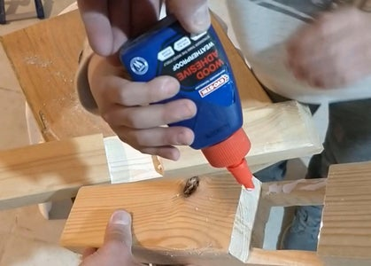 Woodworking - Crane's Tower Base - Joint Glueing