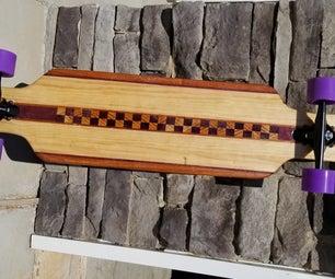 Purple Heart Wood Longboard