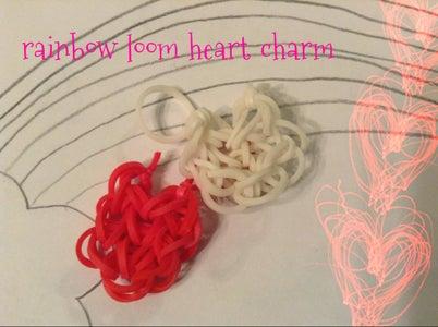 Rainbow Loom Heart Charm