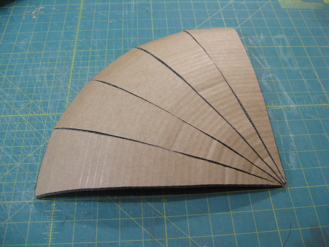 Tack Together Quarter-sections of the Shield
