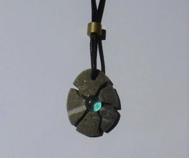 Fragmented Stone Gem Pendant
