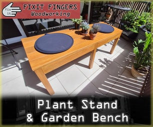 Garden & Balcony Plant Stand / Bench Seat