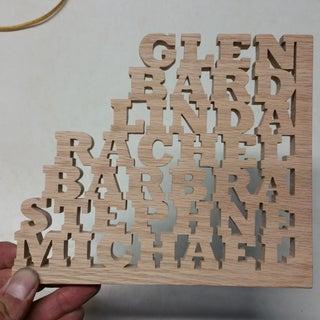Wooden Name Block