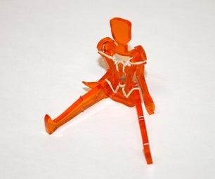 Laser Cut Posable Figure