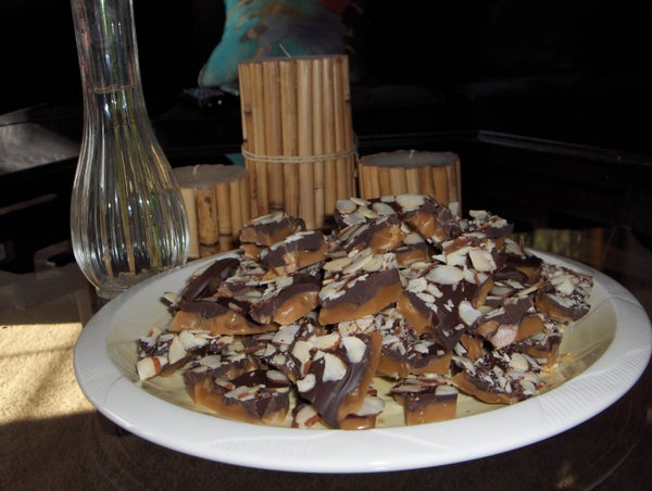 A Christmas Gift - the Infamous Benson Family Sinful Almond Roca Recipe