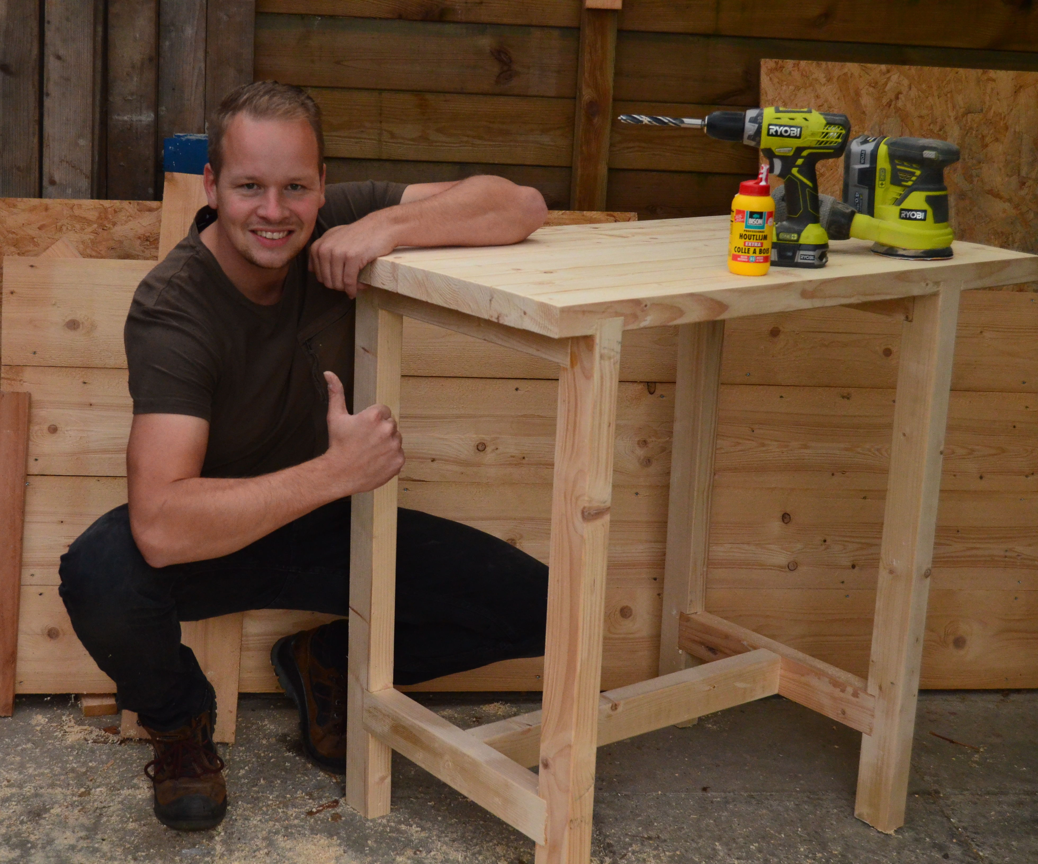 Workbench / Shoptable From Offcut CLS Timber.