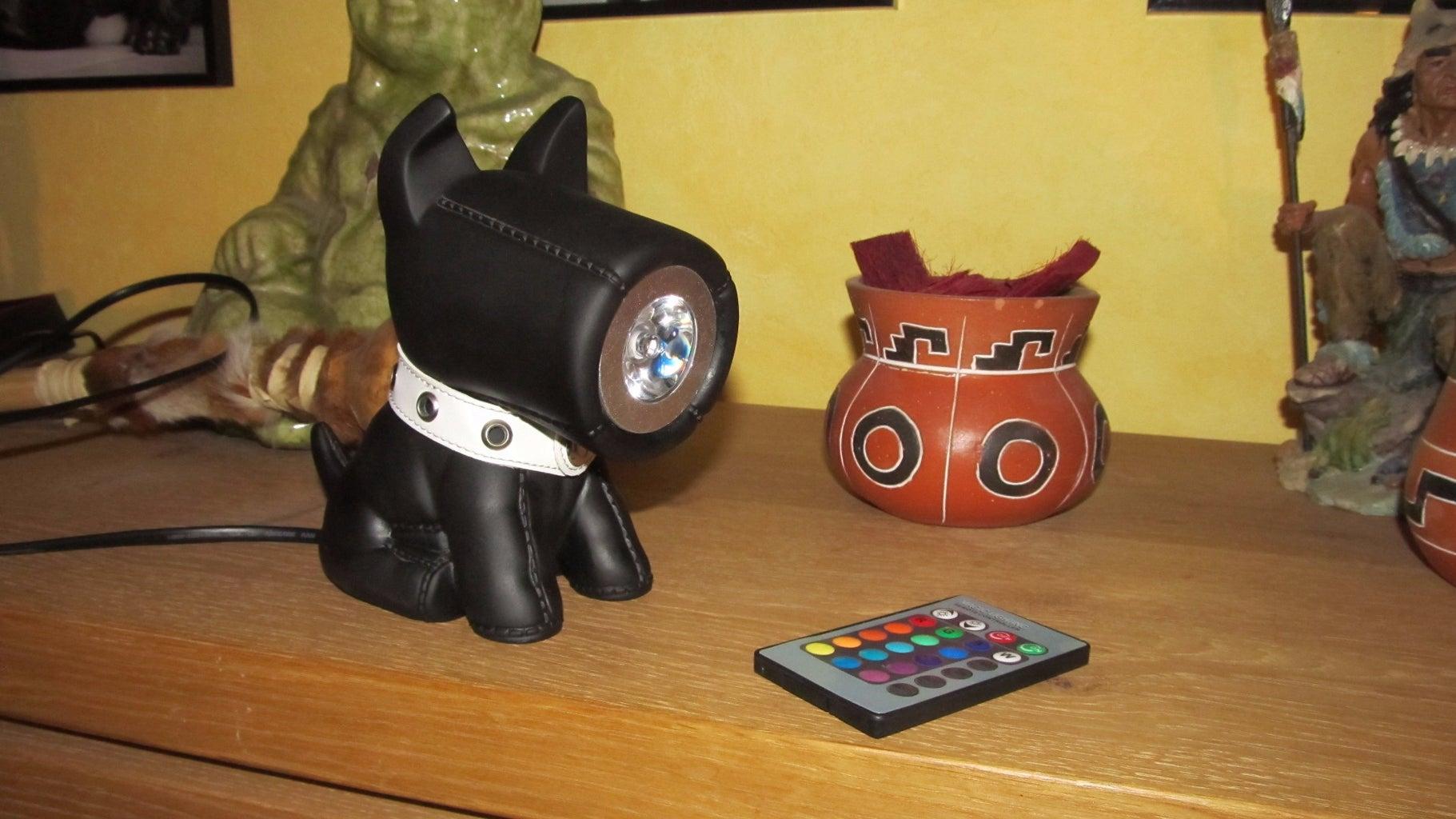 Speaker to Desktop Lamp