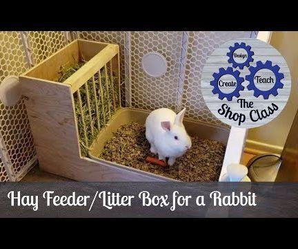 Rabbit Hay Feeder and Litter Box