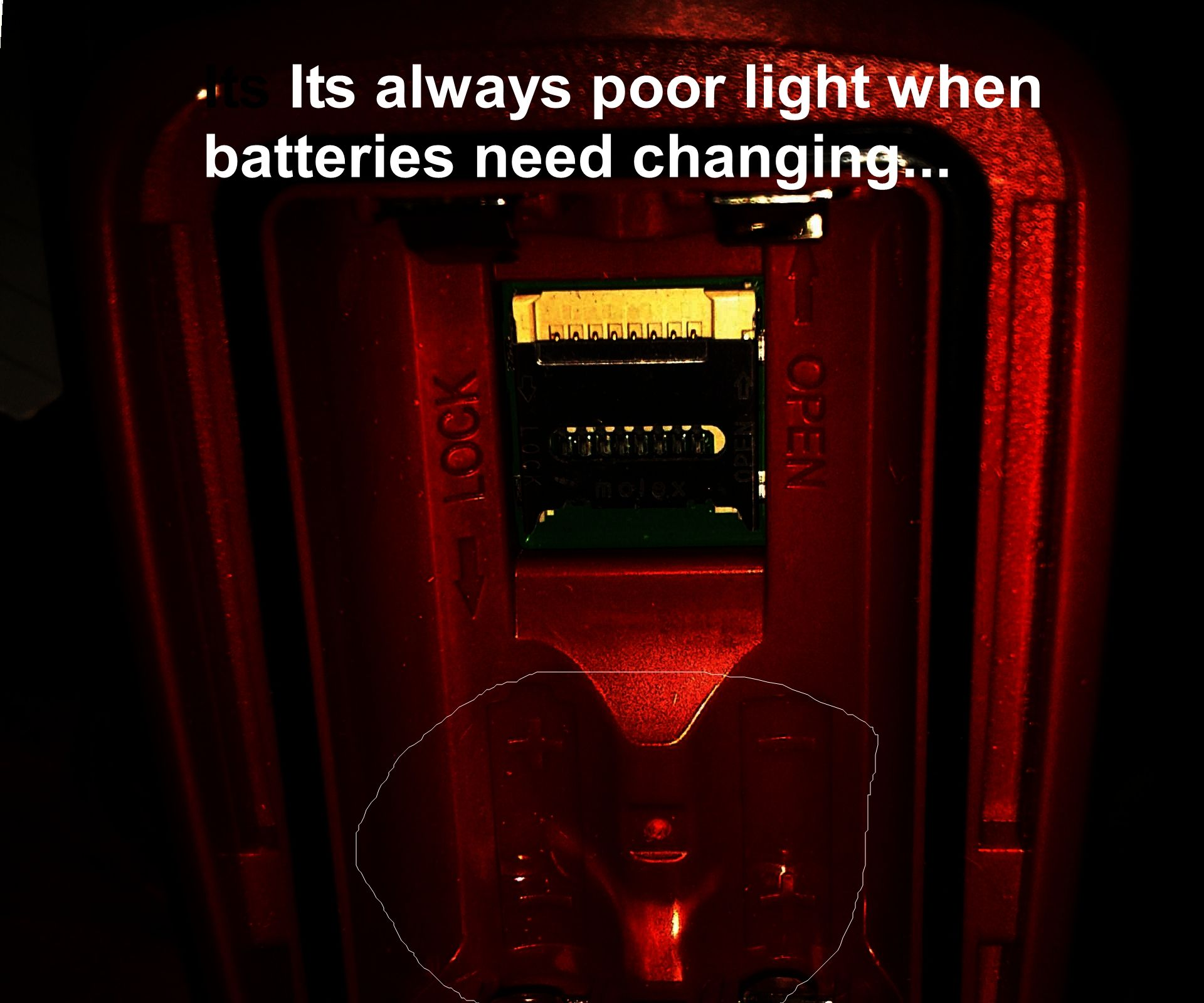 Changing device batteries in in the dark..