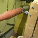 Router Jig for flutes on Wood Lathe