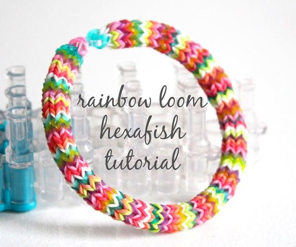 Hexafish Rainbow Loom Bracelet