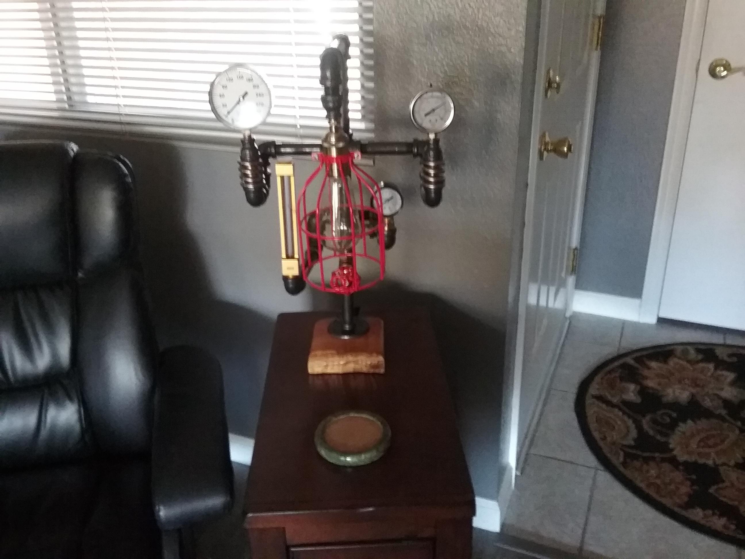 Steampunked Laboratory Lamp