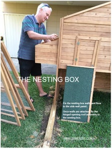 Attaching the Nesting Box to Your Chicken Coop