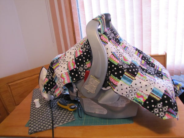 Make a Quilted Car Seat Cover (car Seat Tent)