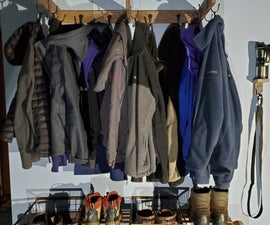Mudroom Jacket and Boot Organizer
