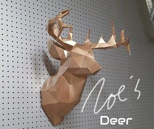 Faceted Deer on A4 or 8.5 X 11 Paper
