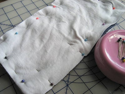 Layer and Pin the Fabric
