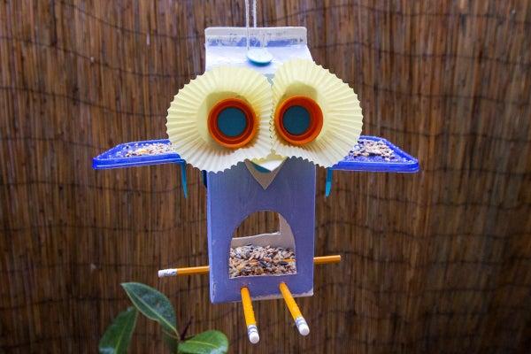 Makedo Juice Carton Bird Feeder