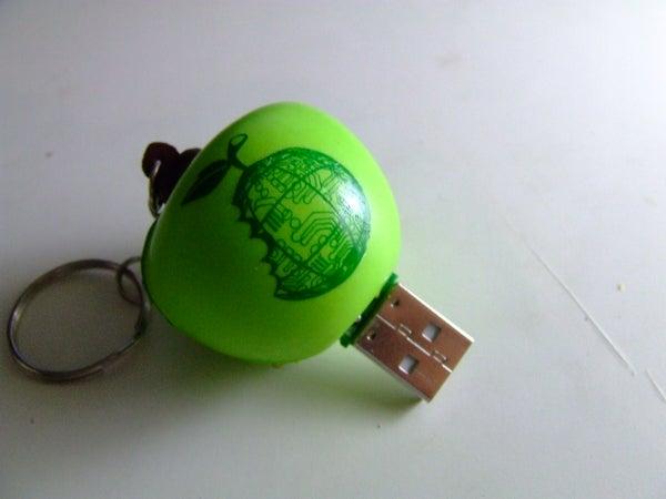 Foam Apple Keychain Flash Drive...