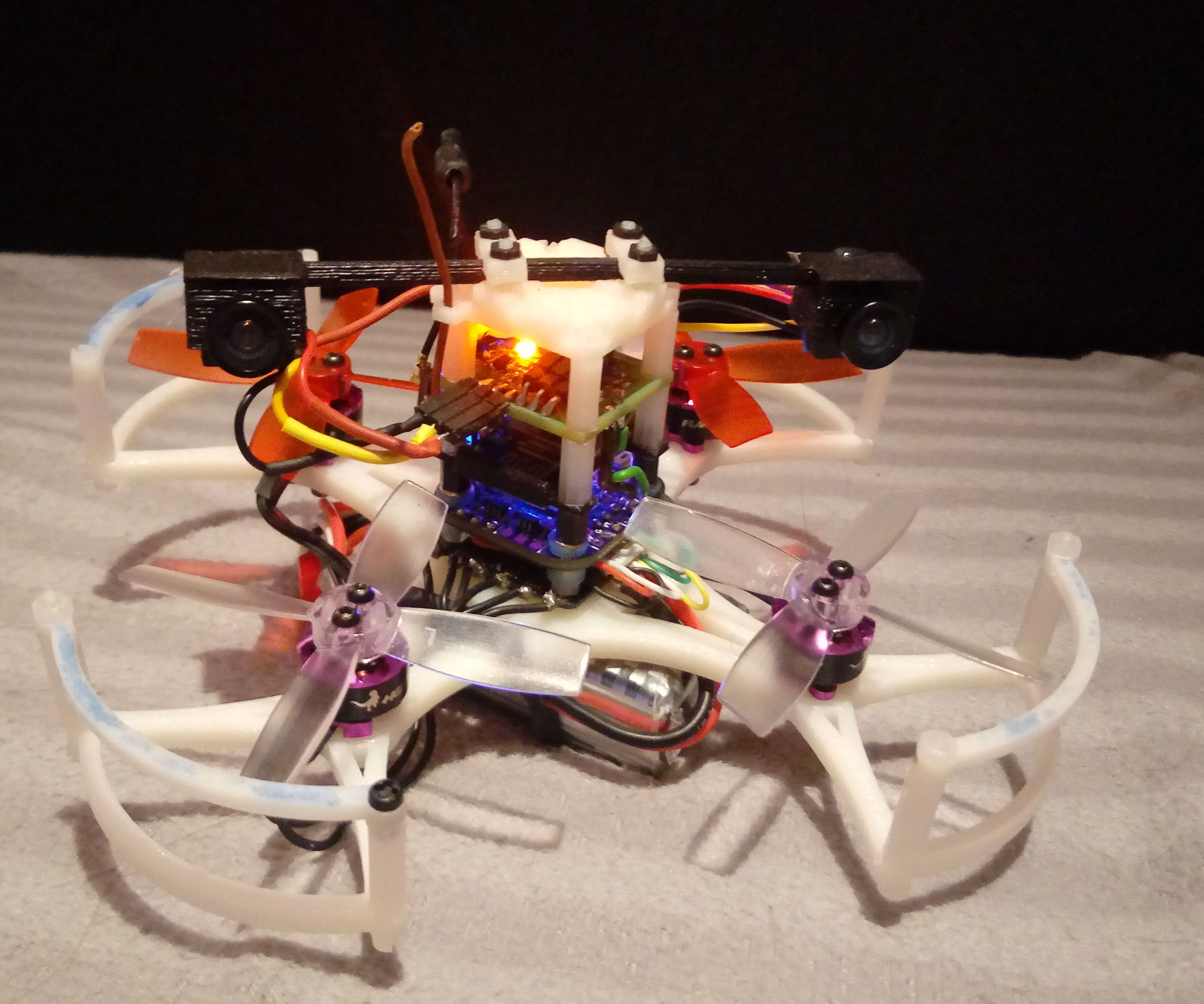 Micro Wifi Controlled 3D Printed 3D FPV Copter