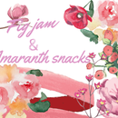 Fig jam + sweet amaranth snacks